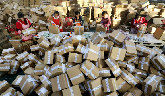 China has world's largest express delivery sector