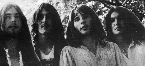 UFO um 1970, als die Band mit ihren boogielastigen Space-Rock-Nummern vor allem in Deutschland und Japan erfolgreich war.