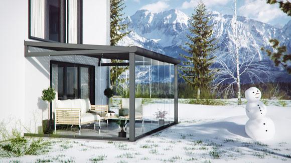 Schneelast Terrassendach in Deutschland, Österreich und der Schweiz