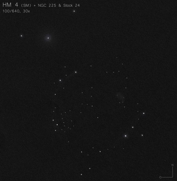 HM 4 Zeichnung NGC 225 Stock 24