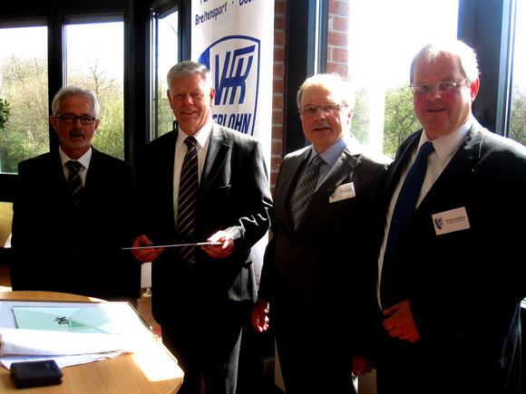 Vorstand 2013 : Holger Jarzombek - Joachim Münzberg - Martin Rapp - Burkhard Badtke - es fehlt Christian Pühl