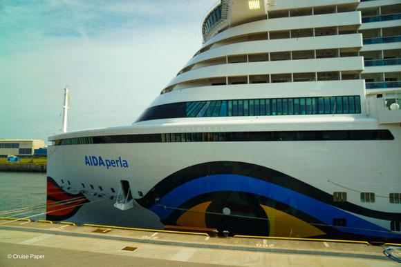AIDAperla Cruise Center Steinwerder Hamburg