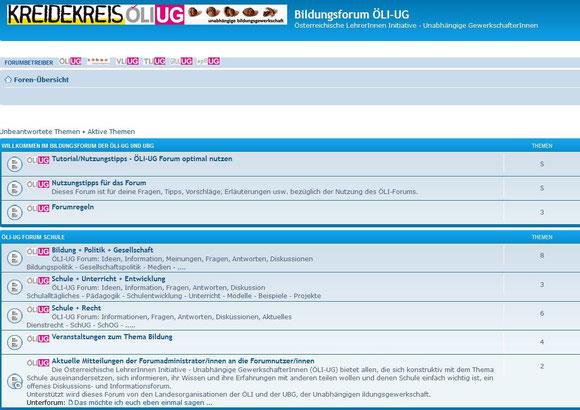 Informations- und Diskussionsforum der ÖLI_UG