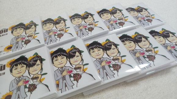 カード10枚ごとに透明袋に入れて梱包