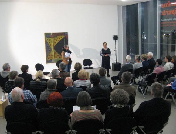 Dr. Rita E. Täuber, Städtische Museen Heilbronn, Stefanie Hoster, Ltg. Hörspiel Deutschlandradio Kultur (v.li) / Foto: Jürgen-M. Edelmann
