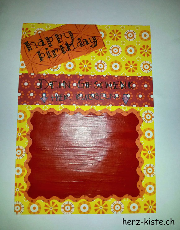 Rubellos Geburtstagskarte zum aufrubbeln