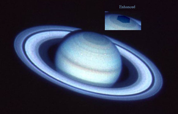 Hubble image of hexagon 1990