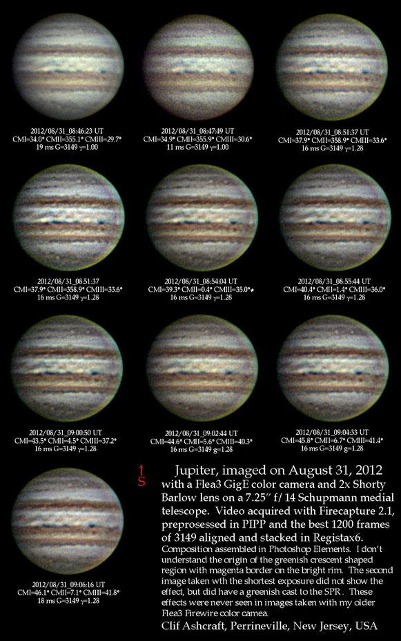 Jupiter on August 31, 2012