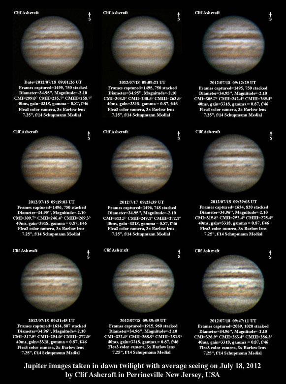 Jupiter 7/18/2012 Collage