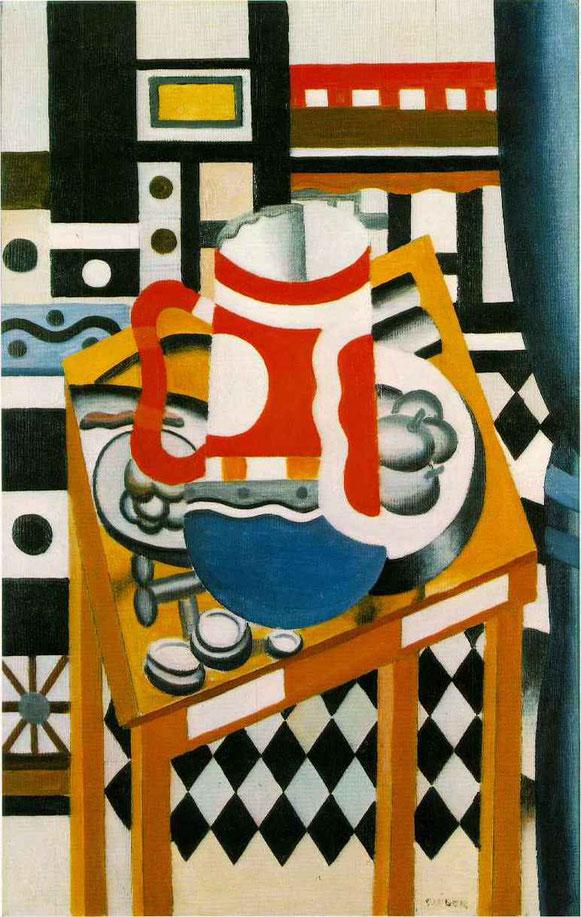 フェルナン・レジェ「ビールマグカップの静物画」(1921年)