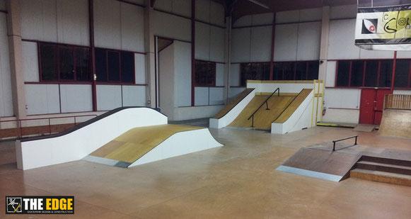 THE EDGE Skatepark Design & Construction - Skatepark indoor LE GLOBE - Carvin