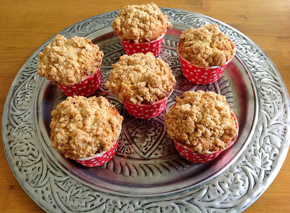 Appel-Kaneel Muffins met Walnotenkruimels.