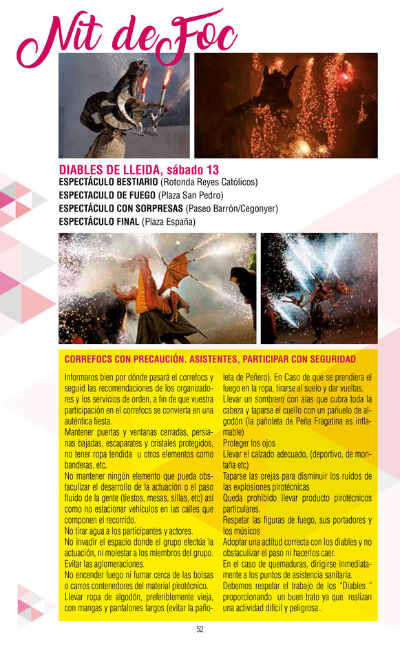 Fiestas del Pilar en Fraga Programa
