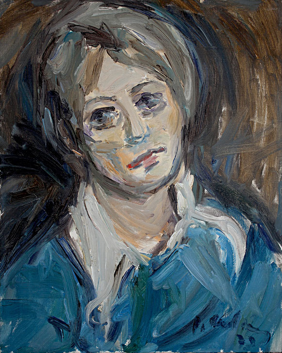 Frauenportrait   1973, Öl auf LW, 44 cm x 55 cm