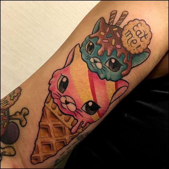 猫のアイスクリーム