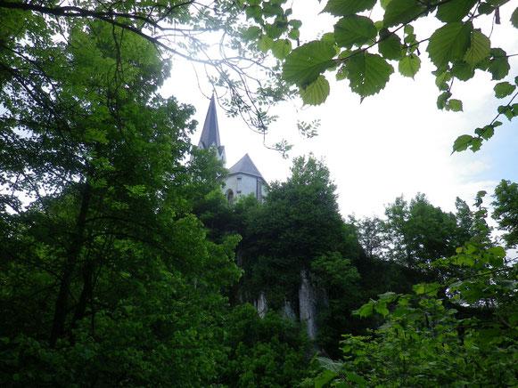 Die Kirche von Feistritz an der Gail. Dort ist unsere Etappe vom 1. Tag zu Ende