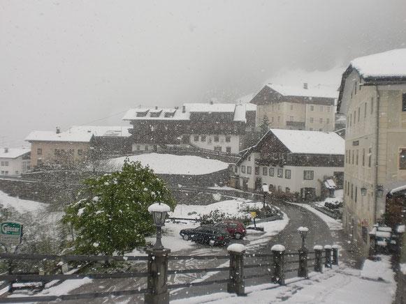 Trotz Schnee erreichen wir Maria Luggau zu Mittag des 4. Tages
