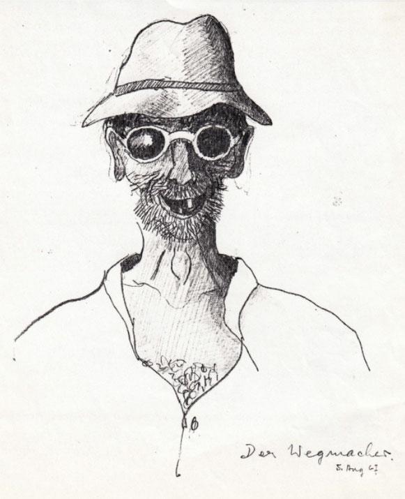 Der Wegmacher, Zeichnung Walter Rentsch sen. 5. August 1967