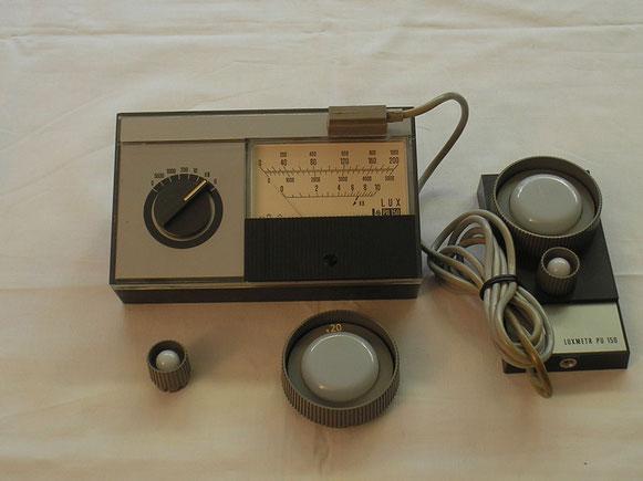 Lichtstärken Messgerät Luxmeter PU 150  Metra Blansko Ungarn   Fertigungsjahr 1972