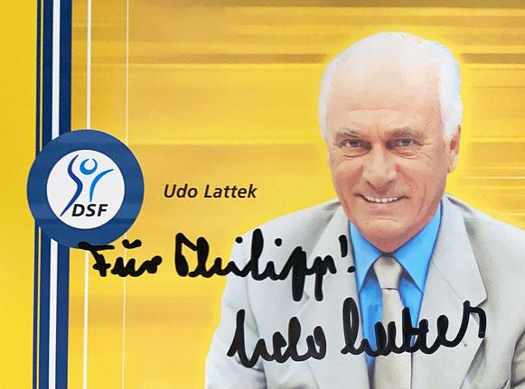 Autograph Udo Lattek Autogramm