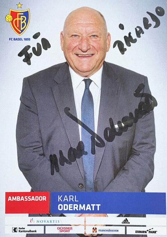 Autograph Karl Odermatt Autogramm