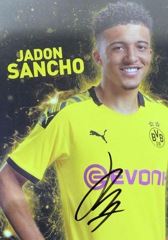 Autograph Jadon Sancho Autogramm