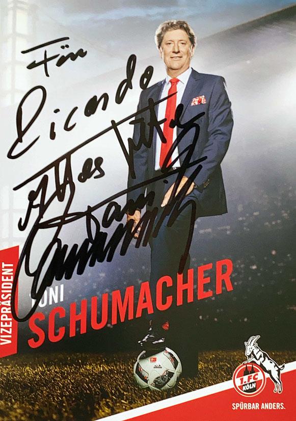 Autograph Toni Schumacher Autogramm