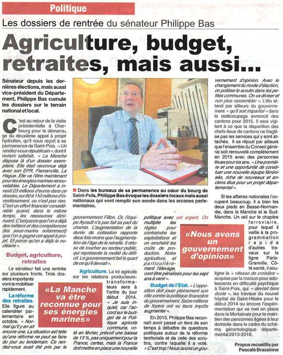 Gazette de la Manche, 02.10.2013
