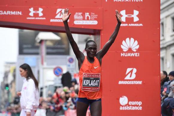 Vivian Kiplagat Jerono ganando el Maratón de Milán (Organizadores) © Copyright