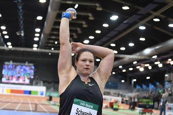 Christina Schwanitz, ganadora en la reunión de la IAAF World Indoor Tour en Dusseldorf (Gladys Chai von der Laage) © Copyright