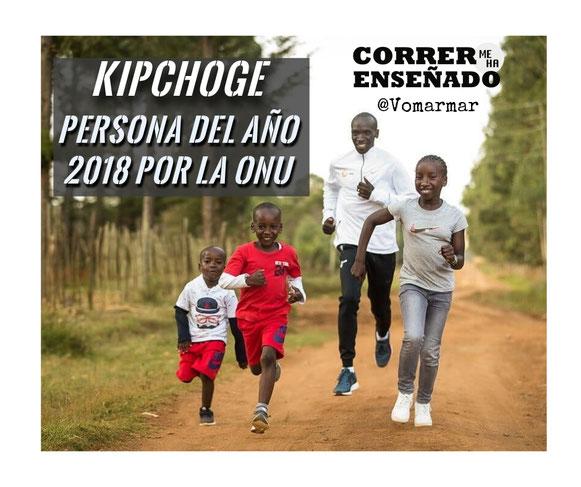 kipchoge es la persona del año 2018 por la ONU