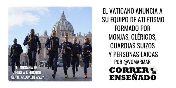 Un nuevo equipo internacional de atletismo ha nacido, se trata del equipo del Vaticano.