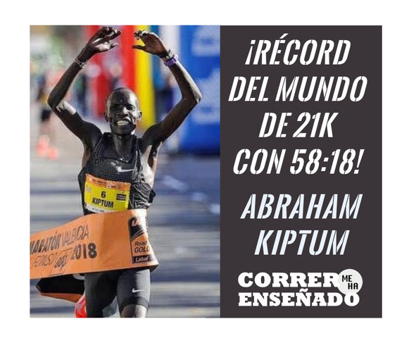 Abraham Kiptum destroza el récord del mundo de Medio Maratón