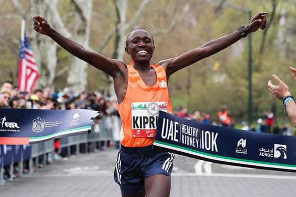 Rhonex Kipruto marca 27:08 en 10k en Nueva York (NYRR / organizadores) © Copyright