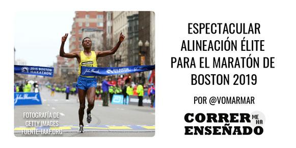 Espectacular Alineación Élite para el maratón de Boston 2019