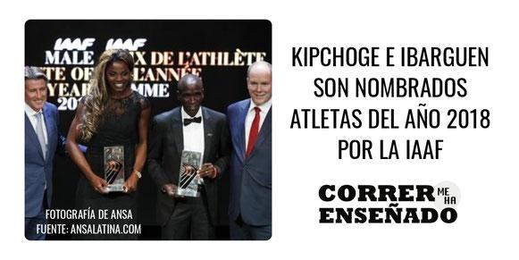 Kipchoge e Ibarguen son nombrados atletas del año 2018
