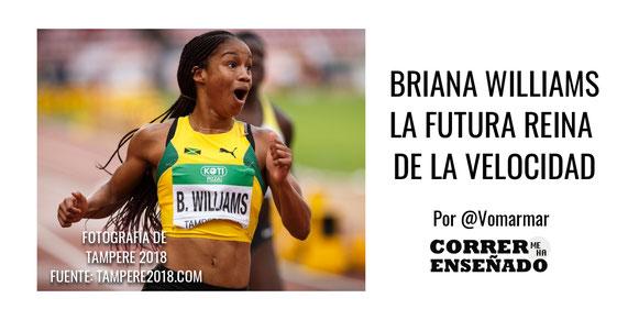 Briana Williams la futura reina de la velocidad