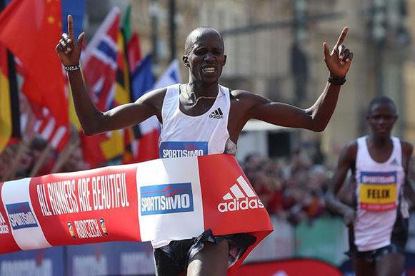 Otra victoria de Praga en la Media Maratón de Benard Kimeli (Giancarlo Colombo / organizadores) © Copyright