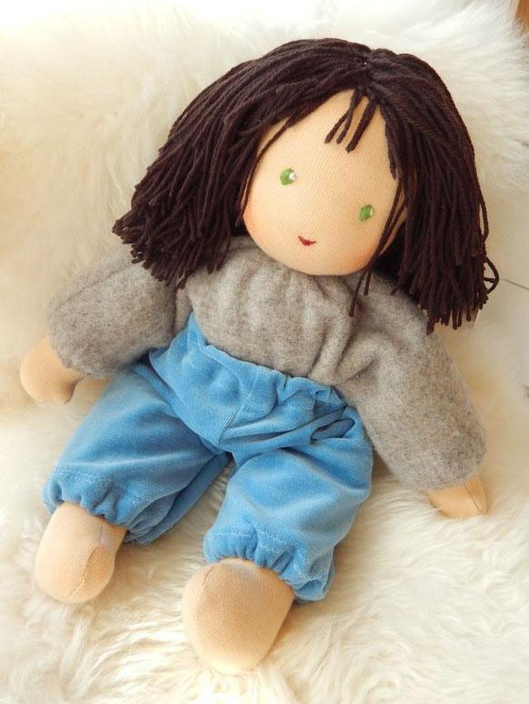 Kleinkindschlamperle, erste Puppe, Kleinkindpuppe, Lillestoff, Lebenskleidung, Waldorf Schlamperle, Waldorfpuppe