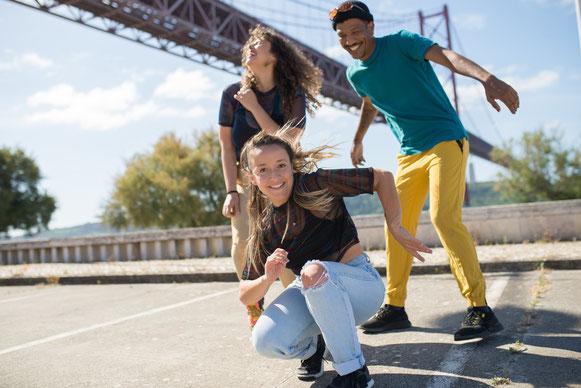 Drei Hip-Hop Tänzer