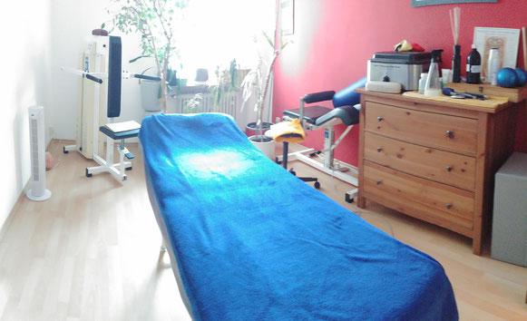 Physiotherapie Markus Lauer in München Giesing - Behandlungszimmer für z.B. Massage und Lymphdrainage