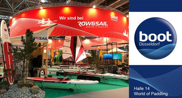 Wassersportmesse boot Düsseldorf: Wir sind auf dem Stand unseres Herstellers ROW&SAIL!