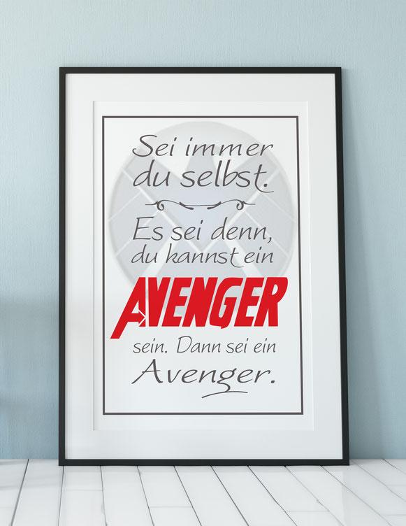 Kunstdruck Avenger Sei immer du selbst Wanddeko