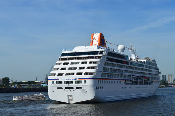 MS COLUMBUS 2 in der Hafencity am 18.08.2012
