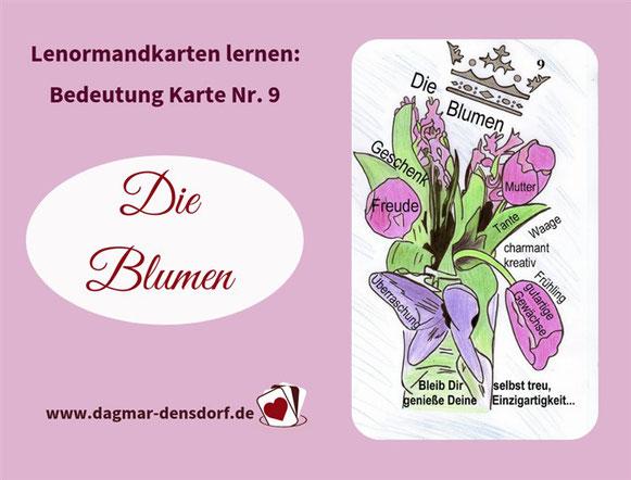 Die Blumen Lenormandlernkarte