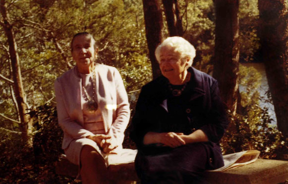 KItty (left) with Elizabeth Patterson at the Center