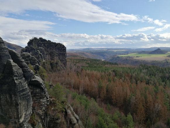 Blick zum Rauschenstein von der Rauschenspitze