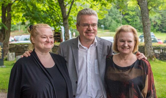 Sonja Korkeala, Martti Rautio, Katinka Korkeala. Foto: P.Bagge