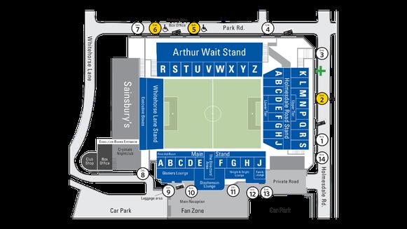 Selhurst Park Stadionplan Crystal Palace London, Quelle: www.premierleague.com