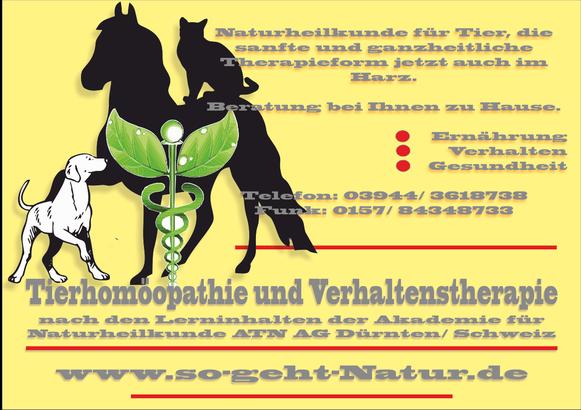 -So geht Natur- Tierhomöopathie und Verhaltenstherapie in 38889 Blankenburg